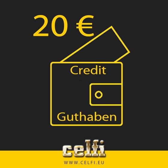 Recharge 20,-- € credit