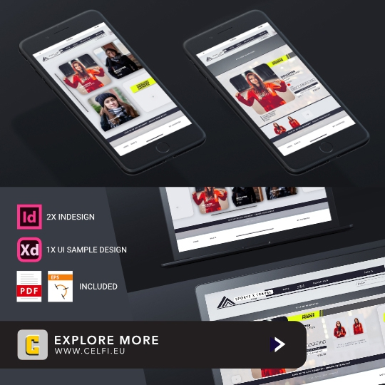 Modern Interface Shop Design Mockup | Mediadesign